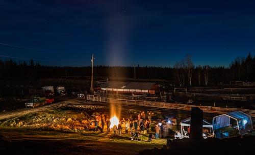 A Barn Raising Party in the Cariboo! - Chris Harris ...