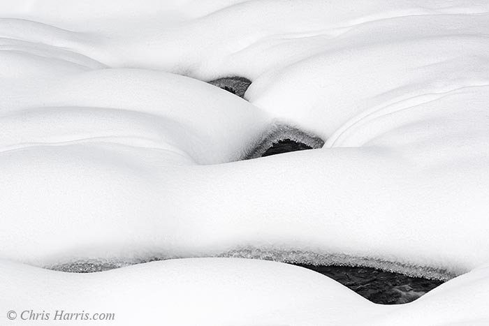 snow and stream abstract