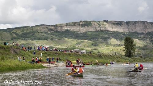 Canada, British Columbia, Peace River Valley, Paddle for the Peace, Stop Site-C rally,